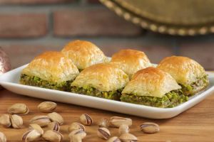 baklava, a dessert pastry that both the Greeks and the Turks enjoy