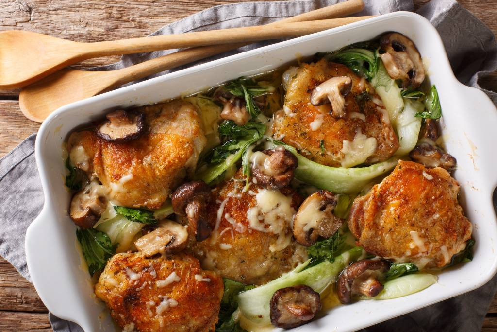 Chicken Thigh with Bok Choy Recipe