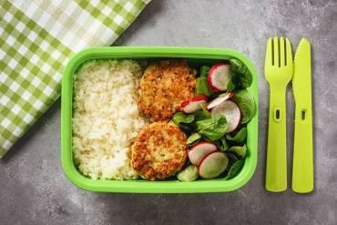 Chicken Patty Bento Recipe