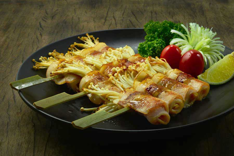 Bacon-Wrapped Enoki Recipe