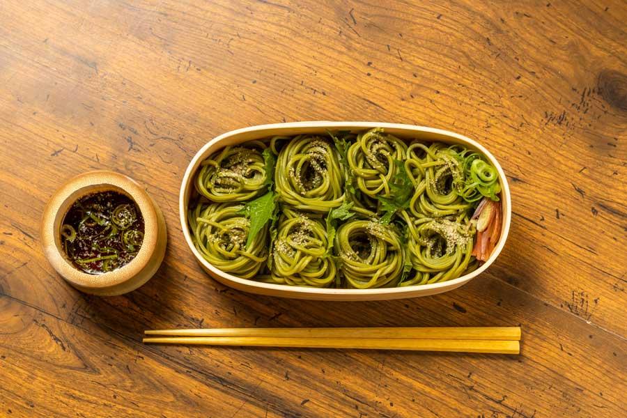 Cold Green Tea Soba Noodles