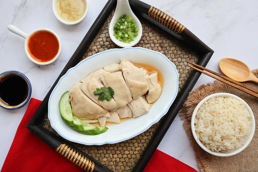 Hainanese Chicken with Rice Recipe