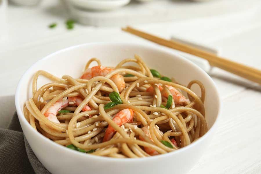 Shrimp Sesame Noodles Recipe
