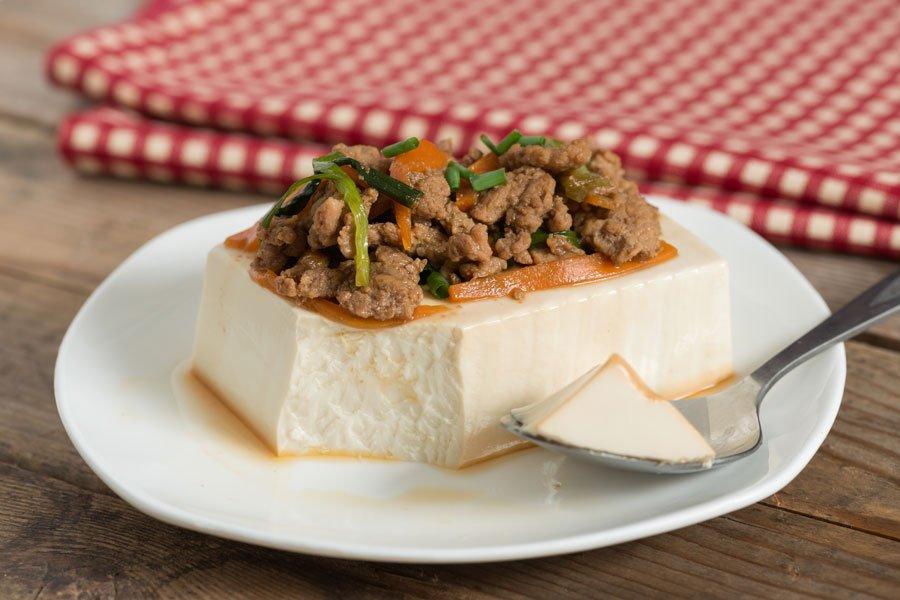 Steamed Tofu with Minced Pork Recipe